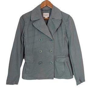 NILI LOTAN Double Breasted Cotton Blazer Jacket